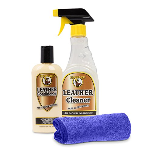 Howard Leather Cleaner and Leather Conditioner Kit. Car Leather Cleaner, Furniture, Couch, Shoe, Jackets, Leather Protector Spray Repair Polish