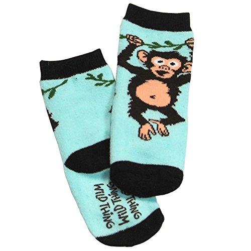 LazyOne Garçon Wild Thing Monkey Bebe Chaussettes 6-12 Months
