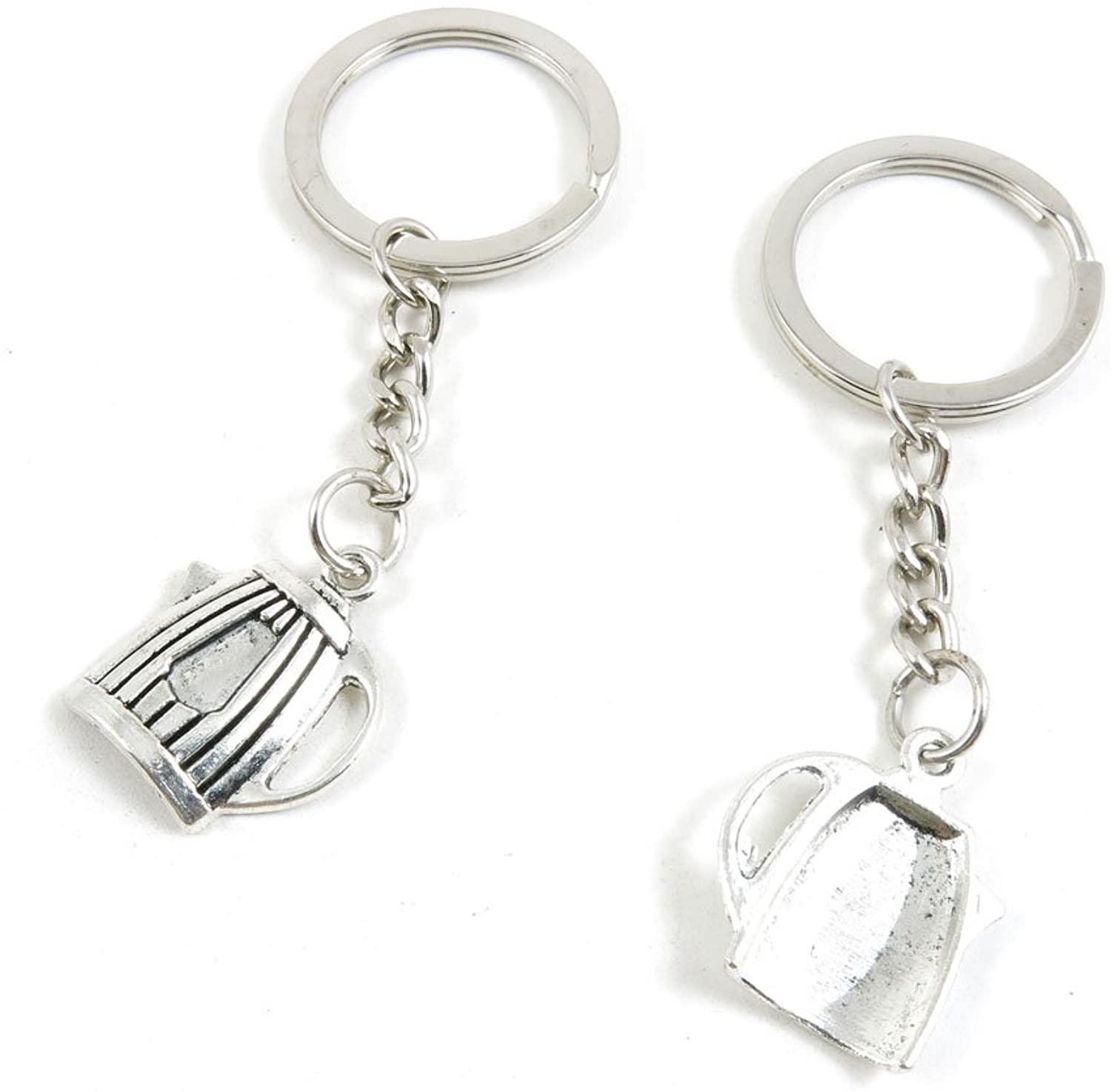 190 Pieces Fashion Jewelry Keyring Keychain Door Car Key Tag Ring Chain Supplier Supply Wholesale Bulk Lots U2QH3 Teapot Water Kettle