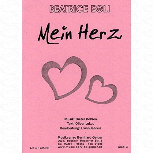 MEIN HERZ - arrangiert für Bigband [Noten/Sheetmusic] Komponist : Egli Beatrice