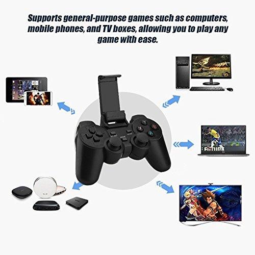 Yppss Wireless-Gaming-Controller USB-Bluetooth-Gamepad Joystick-Game-Controller mit 2.4G Receiver kompatibel for iOS/Android-Phone/PC/Laptop-Computer (Windows XP / 7/8/10) / Smart TV/TV Box Eternal