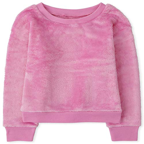 The Children's Place Girls' Long Sleeve Cozy Pajama Top, CRUISEPINK, L (10/12)