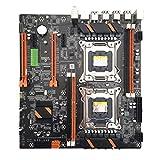 MYA - Placa base doble servidor X79 2011 Pin E5 doble placa base CPU, M.2 Desktop Mainboard X79 Dual CPU LGA2011 Motherboard E5 4 × DDR3 DIMM