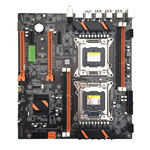 MYA Mainboard Doppelter Server X79 2011 Pin E5 Dual Mainboard CPU, M.2 Desktop Computer Mainboard X79 Dual CPU LGA2011 Motherboard E5 4 × DDR3 DIMM