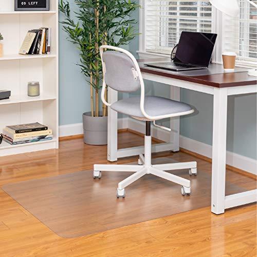 "Ilyapa Office Chair Mat for Hard Floors 36"" x 48"" Heavy Duty Clear, PVC Chair Mat for Hardwood and Tile Floors, Protective Floor Mat for Home or Office"
