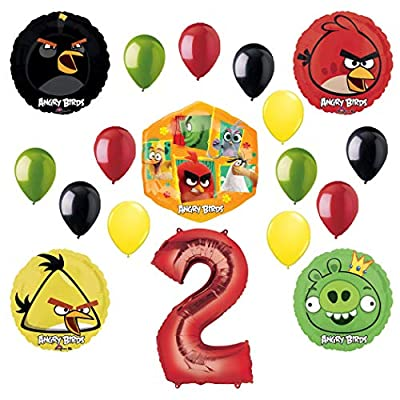 Angry Birds 2 Party Supplies 2nd Birthday Balloon Bouquet Decorations