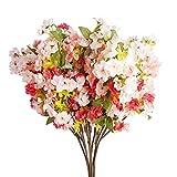 Künstliche Kirschblütenzweige von Leshabayer, 6 Stück, 78,7 cm, Seiden-Pfirsichblüten, Sakura-Arrangement für Hochzeit, Zuhause, Garten, Pavillon, Dekoration, Peach Pink-1, 79 cm