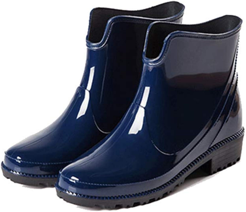 Women's Light Ankle Rain Boot Rubber Elastic Rain Booties