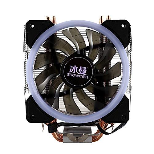 NINGXUE-MAOY LED CPU Cooler Master 4 Toque Directo Cadena De Cuero Cadena De Cuero Torre Congelado Sistema De Enfriamiento CPU Fan De Refrigeración Y Ventilador PWM