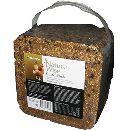 21 LB. - NUTRENA - Nature Wise Scratch Block - SUPPLEMENT FOR FREE RANGING POULTRY - With Oyster Shells