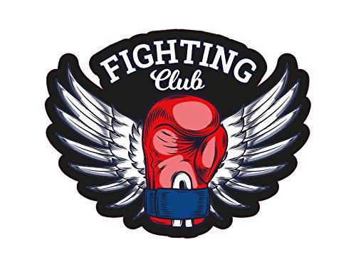 1 x Aufkleber Boxing Sticker Fighting Club Boxhandschuh Engel Flügel WBC Logo