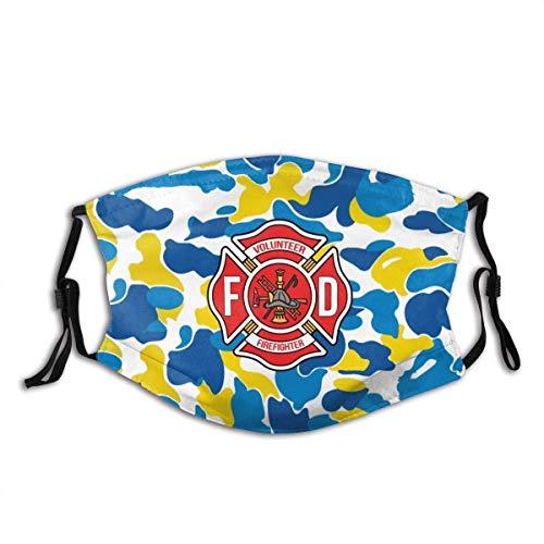 TABUE Mundschutz Gesichtsschutz Freiwillige Feuerwehr Sturmhaube Gesichtsschal Mundschal Wiederverwendbarer Staubschutz mit 2 Filtern