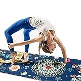 Grist CC Estera de Yoga de Terciopelo Impresa de Gamuza Antideslizante, Estera de Gimnasio de Caucho...
