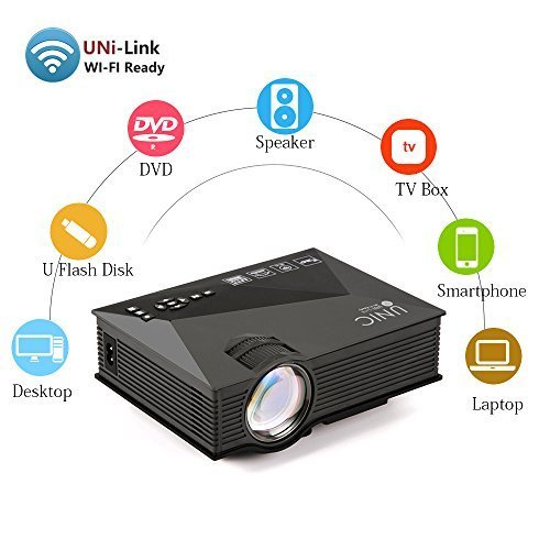 Portable Projector Wireless Multimedia Home Cinema Mini LCD LED Projection