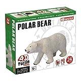 4D Master Polar Bear Model Puzzle (24 Piece), One Color