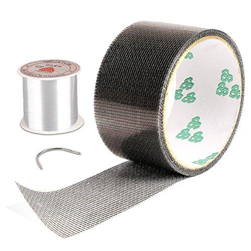 Screen Repair Kit, Door Window Screen Patch Tape Fiberglass Covering Wire Mesh Repair Tape Strong Adhesive Seal for Repair Holes Tears(2'Wx79.4'L)
