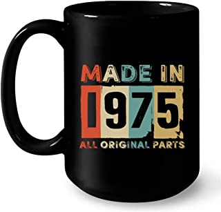 BIRTHDAY YEAR Coffee Mug AWESOME SINCE 1975 Party Gift Idea Born in 1975 Celebrating Special Birth Date Present for Man Woman Friend Relative Office Coworker 11oz Ceramic Tea Cup Digibuddha DM0746