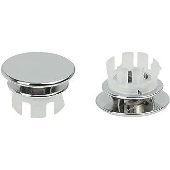 Überlauf Design Abdeckung chrom 2er Set Waschbecken Überlaufblenden Fan