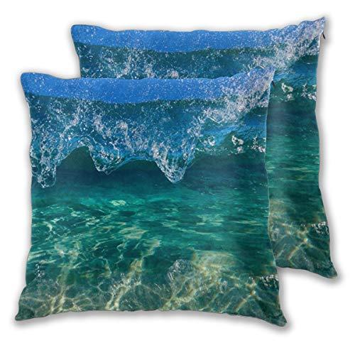 nonebrand Crystal Clam Kissenbezug, dekorativer Kissenbezug für Couch Sofa Bett Stuhl 45,7 x 45,7 cm, 2 Stück