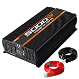 POTEK 5000W Power Inverter 4 AC Outlets 12V DC to 110V AC Car Inverter with 2 USB Port