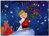 Puzzle Snoopy and Charlie Brown Merry Christmas - Puzzle de 500 piezas para adultos y familias