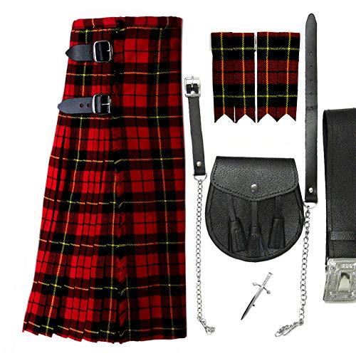 Tartanista Conjunto para hombre - Kilt escocés y más - Wallace - UK50 (127 cm)