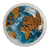 YATELI Terre Carte Sable Eau Perillas de extracción de para gabinetes, armarios, Puertas y cajones de Muebles: se Venden como un Paquete de 4 perillas