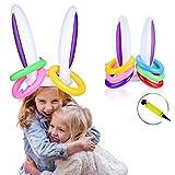 AniSqui 2 Globo Inflable Globo Conejo de Lanzamiento de Globo Hinchable con 12pcs Lanzamiento del Anillo y Regalo de inflador