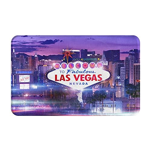 Alfombras de baño,alfombras de baño,Destino Las Vegas,Alfombras de baño de Ducha de Felpa Lavable Extra Suave Antideslizante 15.7'X23.5'