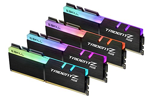 G.SKILL TridentZ RGB Series 32GB (4 x 8GB) 288-Pin DDR4 SDRAM DDR4 3200 (PC4 25600) Desktop Memory Model F4-3200C16Q-32GTZR
