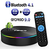 Android TV Box, Android Box 8.1 s905 X 2 Quad-Core cortex-a53 with 4GB RAM 64GB Rom Support 2.4 G/G Wi-Fi/h.265 HDCD Decoding/4 K Full HD Output/HDMI2.0/100 m Ethernet/Bluetooth 4.1 Smart TV box