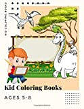 Kid Coloring Books Ages 5-8: 250 Full Colour Pages Dinosaur , Unicorn & Animal Coloring Book Cartoon For Boys, Girls Toddlers & Teens Or Adult Best Xmas & Birthday Gifts Vol 15