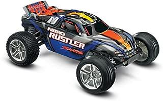 Traxxas Nitro Rustler: 2WD Stadium Truck with TQi 2.4 GHz Radio & TSM (1/10 Scale), Blue
