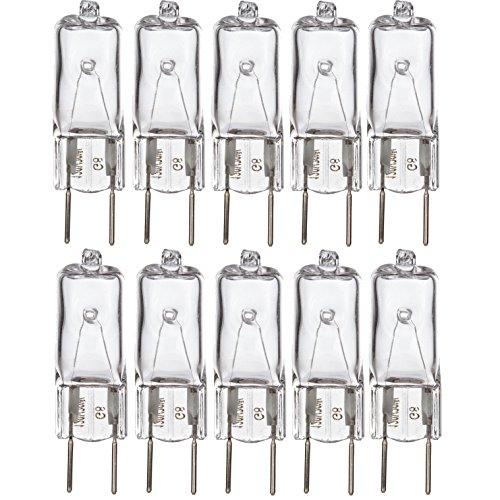 Simba Lighting Halogen Light Bulb G8 T4 50W JCD Bi-Pin (10 Pack) Longer 1.7 Length for Kitchen Hood, Landscape Lights, Desk and Floor Lamps, Wall Sconces, 120V Dimmable, 2700K Warm White