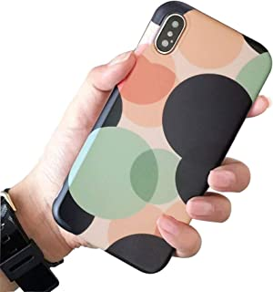 BONTOUJOUR iPhone 7/iPhone 8 Phone Case, Beautiful Art Polka Dot Pattern Cover Case Matte Surface Soft TPU 360 Degree Good Protection