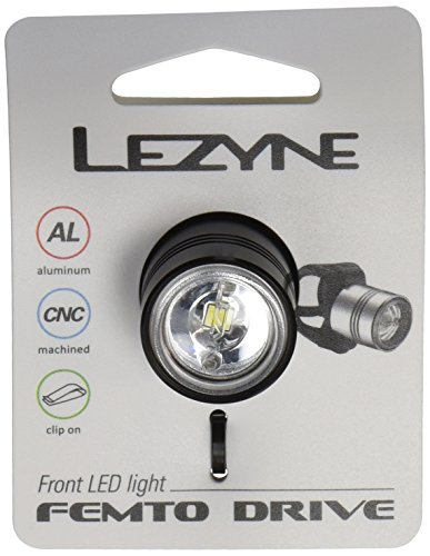 Lezyne 1-LED-1-V104 Luz Led Delantera, Negro, M