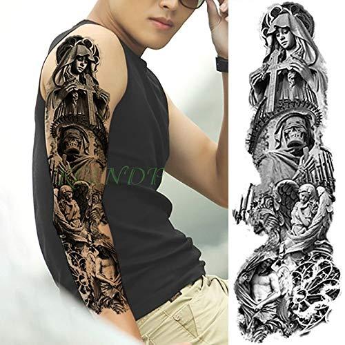 Handaxian 3pcsWaterproof Tätowierungs-Aufkleber-Drache-Fisch-Wasser-große Arm-Tätowierungs-männliche Frau Tattoo 3pcs-20