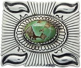 navajo sterling silver turquoise belt buckle