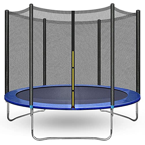 10FT 12FT Trampoline with Safety Enclosure Net - ASTM Approved,Combo Bounce Jump Outdoor Fitness Trampoline PVC Spring Cover Padding Exercise Trampoline for Kids and Adults (10FT)