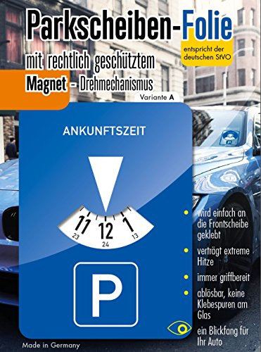 Andre Kulakowski Parkscheibe Aufkleber Variante A Folie Sticker Etikett selbstklebend.