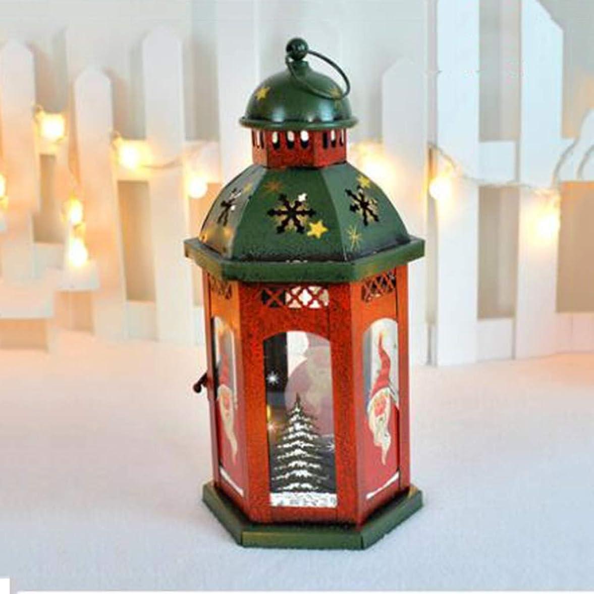 カセット関連するフォローLAOHAO デスクトップクリスマス飾りの飾りシーンレイアウトの窓、錬鉄製の装飾品レトロロマンチックなキャンドルライトの休日のテーブルレトロアイアンローソク足 ワンタイムデコレーション