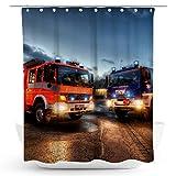 fotobar!style Duschvorhang 175 x 200 cm HLF u GKW (BF und THW Braunschweig)