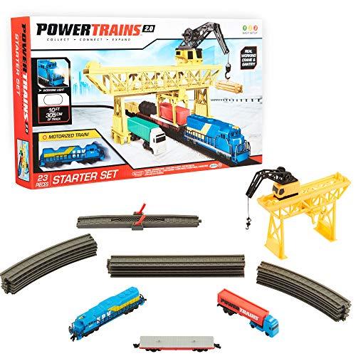Power Trains Starter Set with Port Cargo Loader Crane Train Play Set