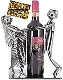 BRUBAKER Weinflaschenhalter Tanzpaar - Paar Skulptur Metall - Flaschenständer - mit Grußkarte für Weingeschenk