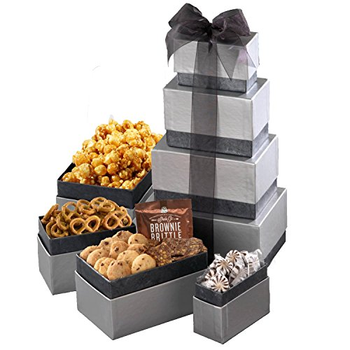 Gift Basket with Assorted Sweets, Cookies and Nuts