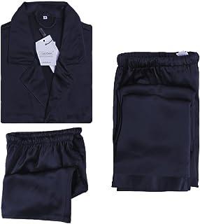 LILYSILK Men's 3Pcs 100% Silk Pyjamas Set Short Sleeve Long and Short 3pcs 22 Momme Pure Silk