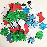 XIAMU Vinilo adhesivo de esponja de muñeco de nieve para nevera, puerta de pared, enseñanza temprana, hecho a mano, para niños, 30 unidades
