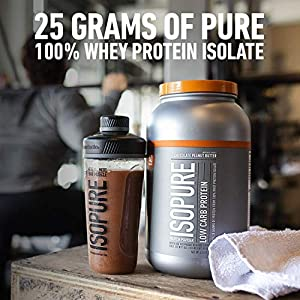 Isopure Zero Carb, Vitamin C and Zinc for Immune Support, 25g Protein, Keto Friendly Protein Powder, 100% Whey Protein Isolate, Flavor: Apple Melon, 3 Pounds (Packaging May Vary)
