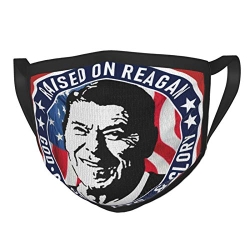 Unisex Face Mouth Nose Mask Washable Funny face mask Ronald Reagan Neck Gaiter Face Dustproof Riding Windproof UV Protection Masks Facial Decorations for Outdoor Hiking Cycling Black
