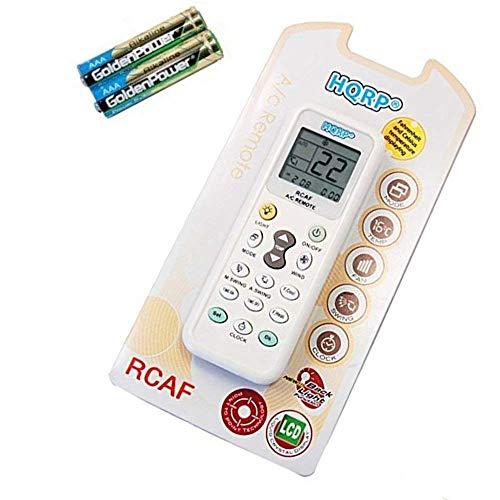 HQRP Telecomando universale compatibile con GREE/GUANGDA/GUQIAO/HAIER/HELTON/HEMILTON/HICON/HISENSE/HITACHI ed altri Condizionatori d'aria murale